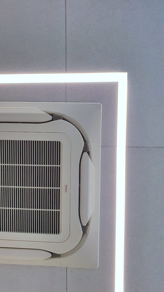 Detail Decke LED