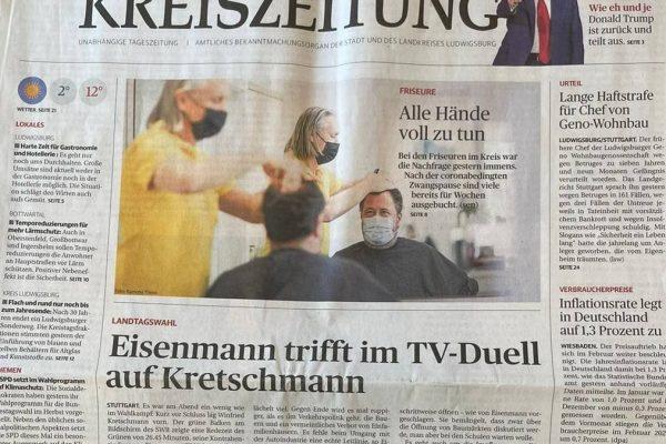 Ludwigsburger Kreiszeitung - Titelseite