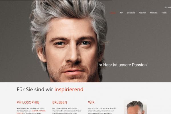Webseite MARKUS KRÄMER FRISEUR