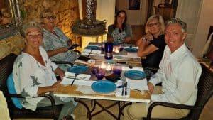 Abendessen beim Betriebsausflug auf Mallorca